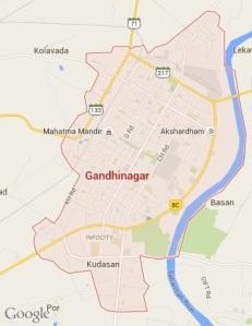 Gandhinagar Map
